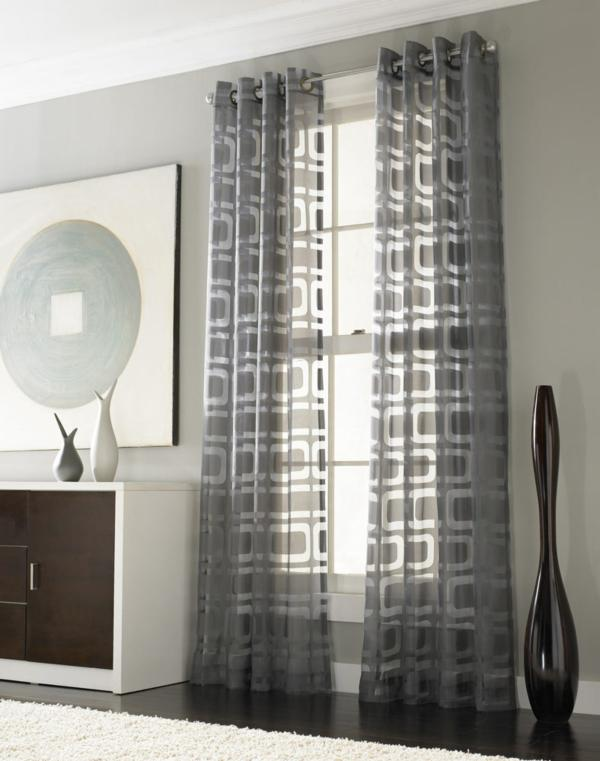 Drapery ideas for the modern home for Modern living room curtain designs pictures