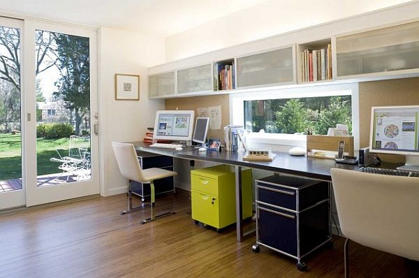 modern home office with contemporary furniture Tips to Make the Most of Your Home Office Space