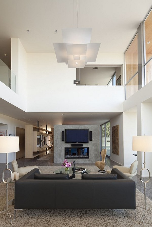 Contemporary Ceiling Designs For Living Room: Creative Ideas For High Ceilings