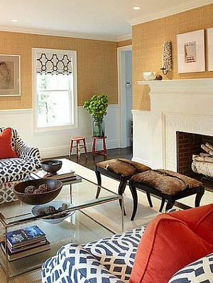 modern living room patterns and textures