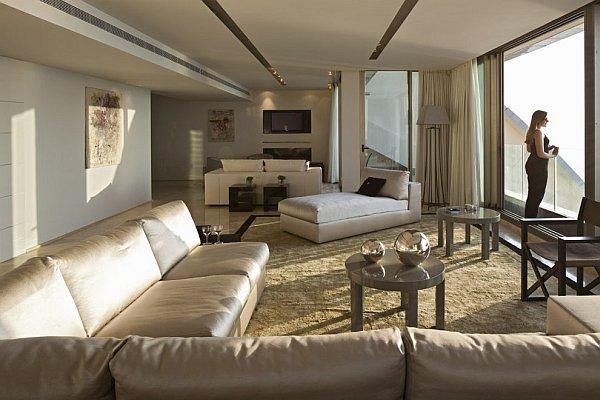 Modern Luxurious Living Rooms : modern luxurious living room with fancy rug - Decoist