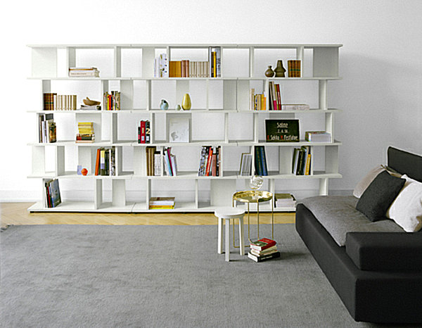20 bookshelf decorating ideas for Bookshelves ideas living rooms