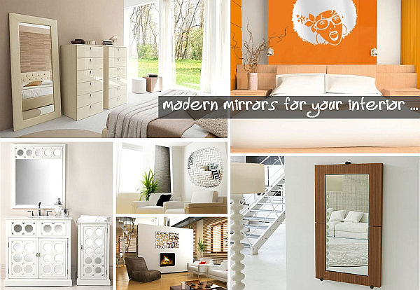 modern mirrors for your interior 20 Fabulous Wall Mirrors