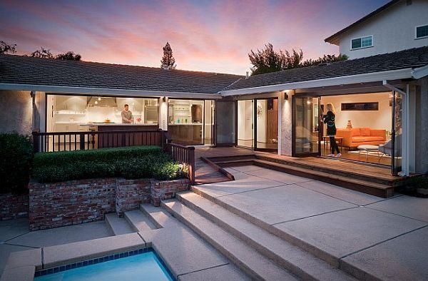 modern outdoor deck area patio