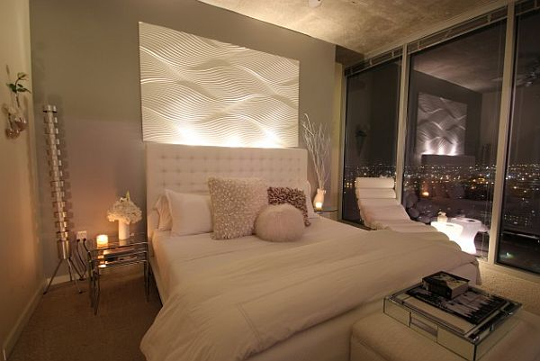 how to create a more serene bedroom 16456 | modern white and grey bedroom with amazing city views