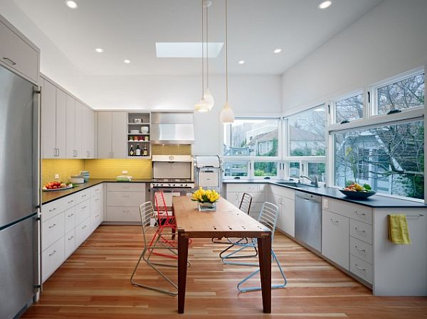 White Kitchen Yellow Backsplash yellow backsplash