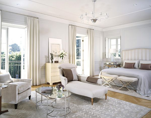 with something extremely simple such as a monochromatic room