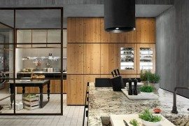 natural skin modern wooden kitchen furniture