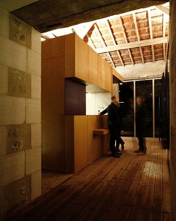 old barn transformation renovation – restaurant charroux, france 6