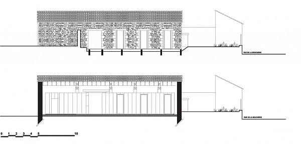 old barn transformation renovation – restaurant charroux, france 8
