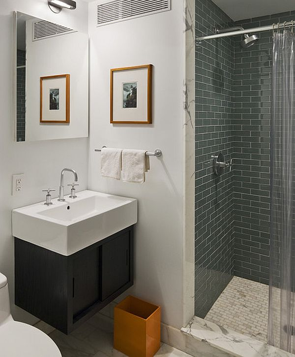 orange-trash-bin-in-modern-bathroom-for-contrast