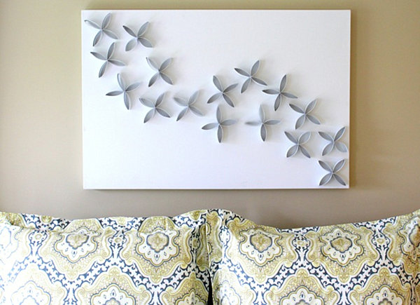 paper towel roll diy art 25 DIY Wall Art Ideas