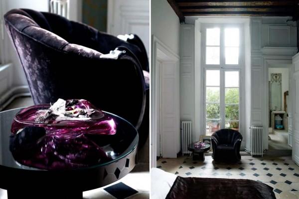 parisian apartment - black furnishings