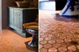 A Penny for Your Thoughts … and Feet: Copper Penny Flooring Made Easy