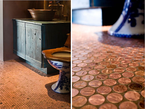 penny flooring design A Penny for Your Thoughts ... and Feet: Copper Penny Flooring Made Easy