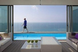 Netanya Penthouse in Israel Has Amazing Panoramic Mediterranean Sea Views & Luxury Decor