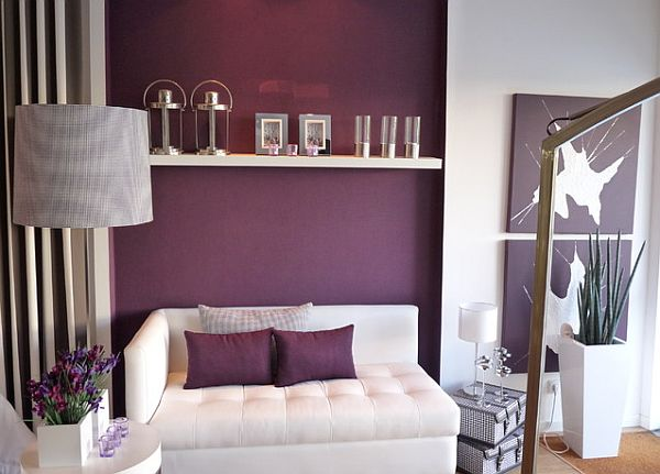 How to decorate with purple in dynamic ways Purple living room decor