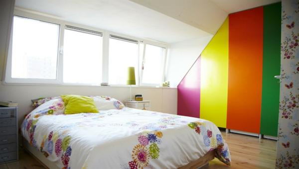 rainbow bedroom wall