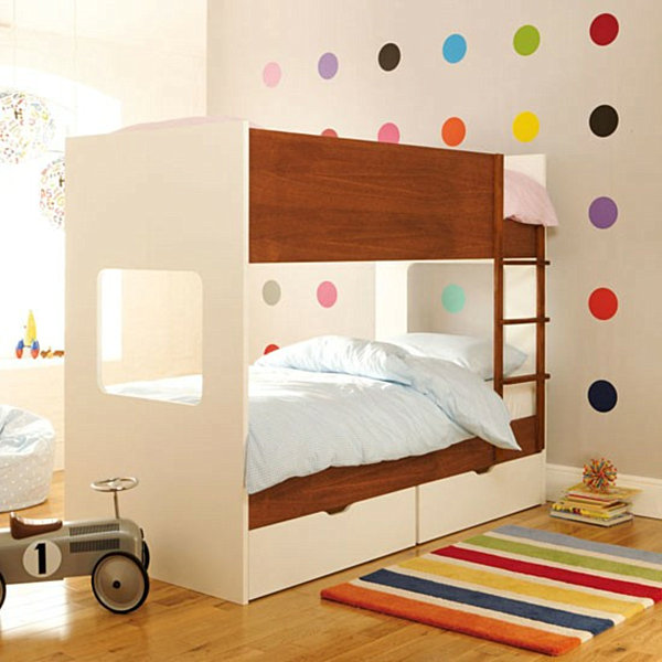 rainbow polka dot moder children's room