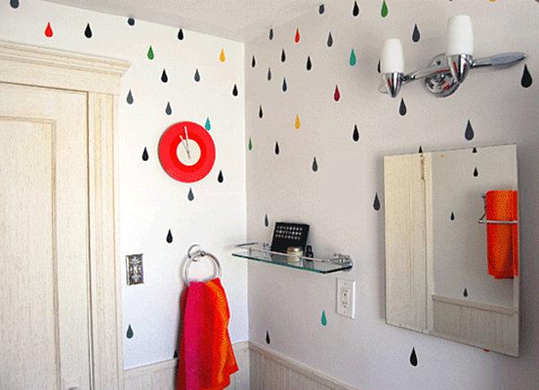 Покраска ванной комнаты своими руками идеи 24