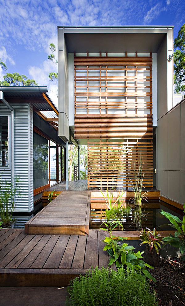 Contemporary australian home built using reclaimed wood for Award winning house designs in india