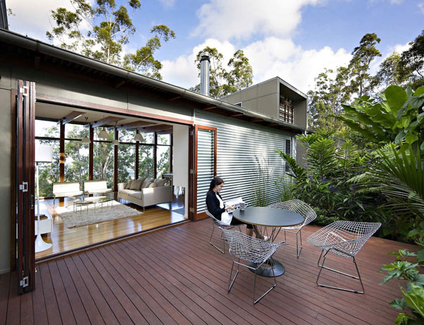 reclaimed wooden decked terrace