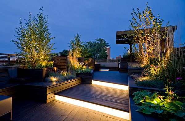 rooftop deck and garden