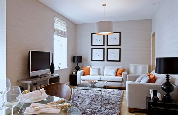 small living room design with white couch and elegant accessories Tips for Entertaining in a Small Space