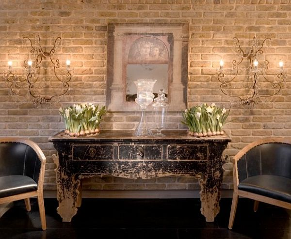 Diy brick wall exposure for Living room ideas exposed brick
