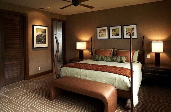 Muddy tracks decorating with brown brings out the best for Dark brown bedroom designs