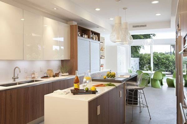streamline modern and fresh with functional cabinetry