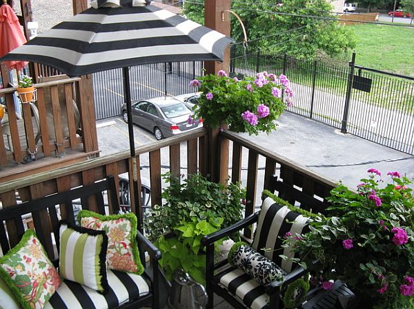 stunning porch - balcony home garden with potted plants