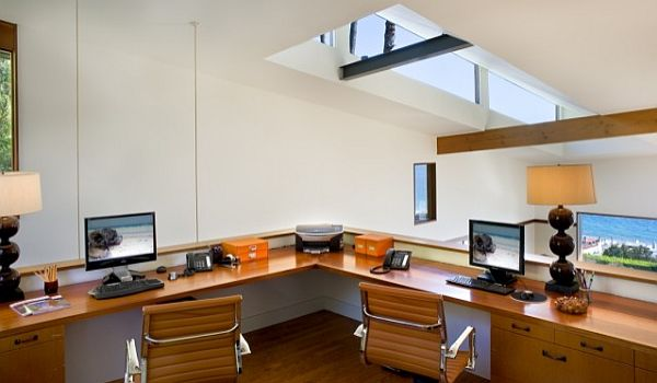 teenage loft home office design