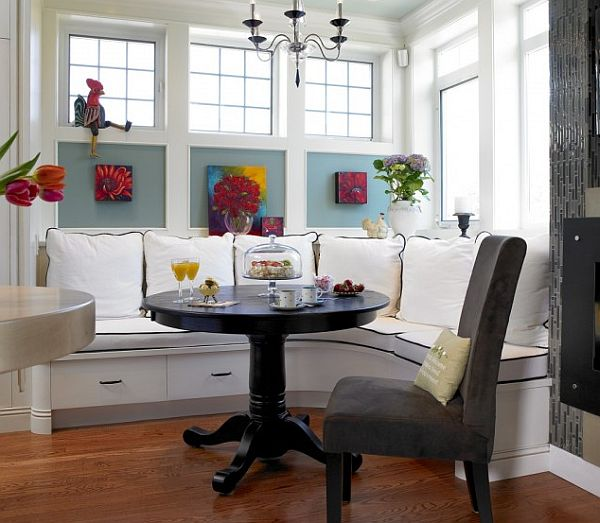 Here are some ideas to inspire the perfect breakfast nook .