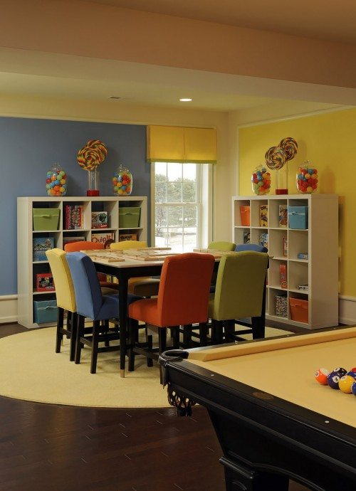 Traditional kids study room oxford playroom decoist - Family game room ideas ...