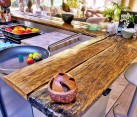 traditional kitchen with reclaimed wooden countertop