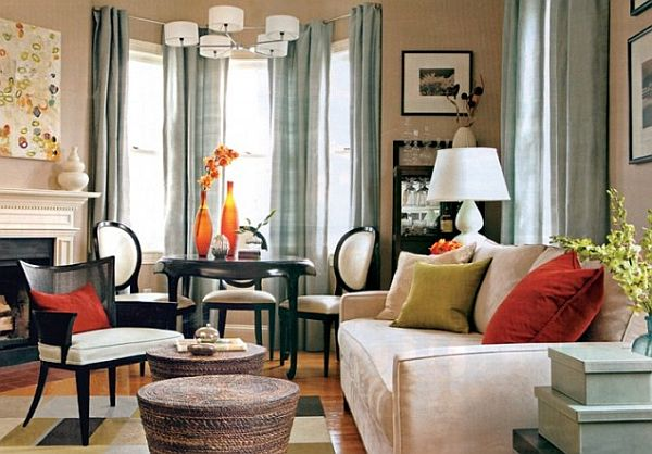 How to utilize the bay window space - Living room with bay window ...
