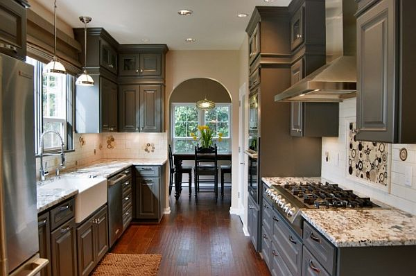 Updating Your Kitchen Cabinets Replace Or Reface - Brown and grey kitchen designs