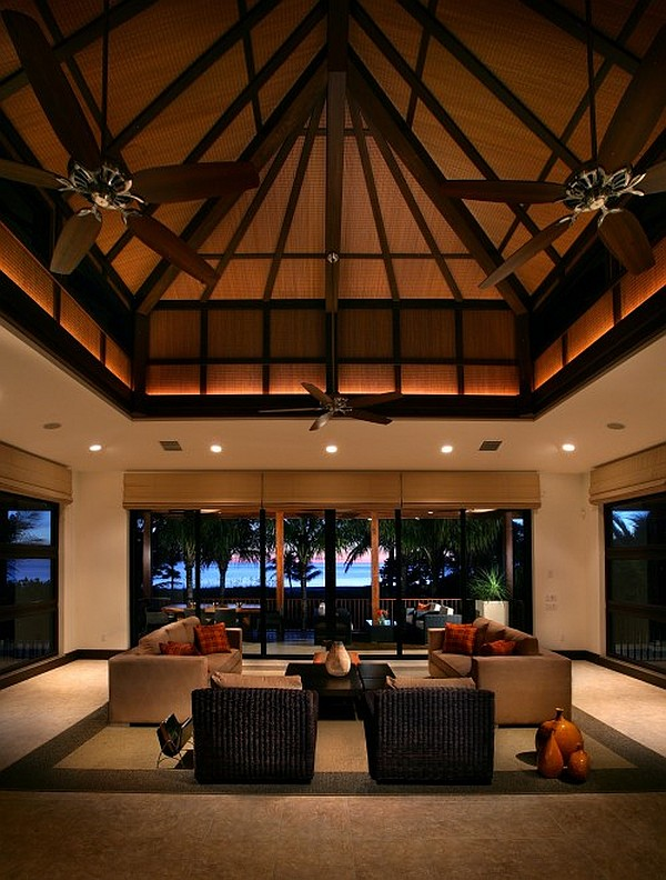 Creative ideas for high ceilings Living room ceiling fan ideas