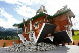 Astounding art work sees an entire home turned upside down in Austria!