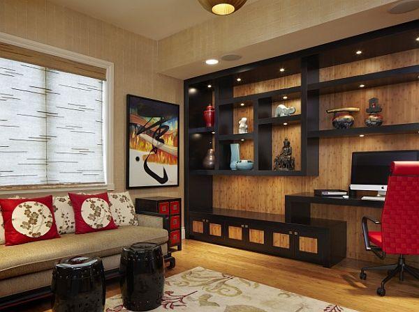 wenge box shelving home office unit