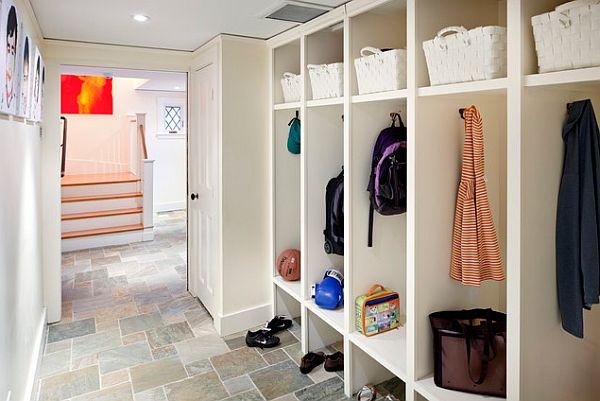 white furniture mudroom design with lockers How to Design a Practical Mudroom