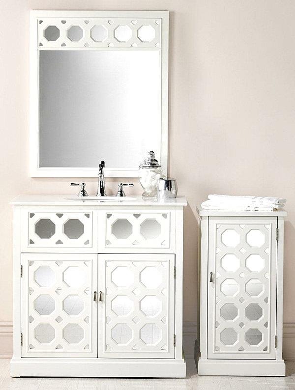 white-geometric-cane-mirror