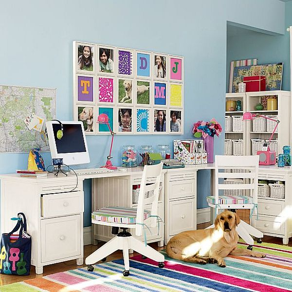 Colorful Kids Rooms: Fun Ways To Inspire Learning: Creating A Study Room Every Kid Will Do Their Homework In