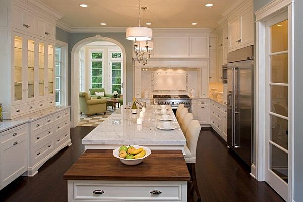 White traditional kitchen furniture decoist for Traditional kitchen dresser