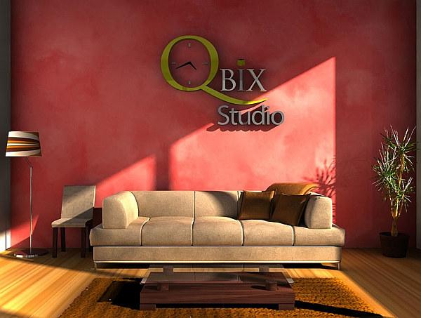 3D typography letter – living room