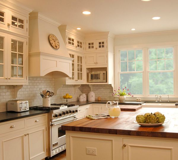Outstanding White Kitchen Cabinets with Butcher Block Countertops 600 x 537 · 48 kB · jpeg
