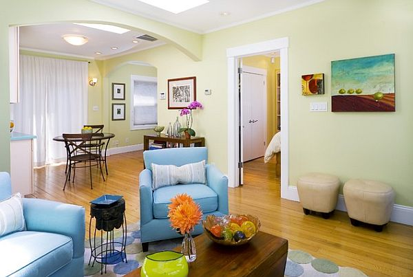 Colorful Living Room design A Beautiful Threesome: Colors and Fibers that Express Home Style Love