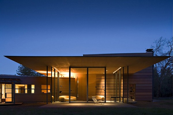 Creekside Residence 14 night view – eclectic lighting