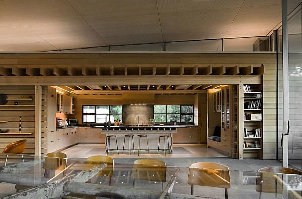 Creekside Residence 9 large open space wooden kitchen